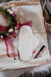 LalaH Denní menstruační vložka látková / BIO beránek PUL (23 cm)