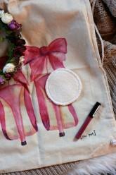 LalaH Odličovací kosmetický tampón látkový bio bavlna beránek - 9 cm