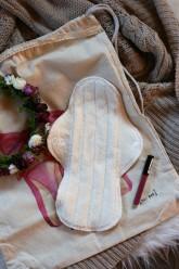 LalaH Noční menstruační vložka látková / BIO beránek prodyšná (31 cm)