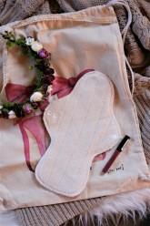 LalaH Noční látková menstruační vložka BIO beránek (30 cm)