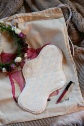 LalaH Noční menstruační vložka látková / BIO beránek PUL (29 cm)