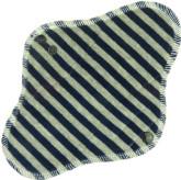 Anavy Denní vložka s PUL - Proužky (šedá, tm. modrá - bavlněný velur) 23 cm