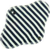 Anavy Denní vložka s PUL Proužky (bílá, tm. modrá - bavlněný velur) 23 cm