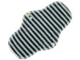 Anavy Noční vložka s PUL - Proužky (tm.modrá, šedá - bavlněný velur) 27 cm