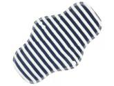 Anavy Noční vložka s PUL - Proužky (tm.modrá, bílá - bavlněný velur) 27 cm
