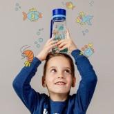 Equa Dětská plastová lahev na pití Equarium