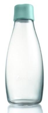ReTap Skleněná lahev na vodu 0,5 l - akvamarínová
