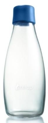ReTap Skleněná lahev na vodu 0,5 l - tmavě modrá