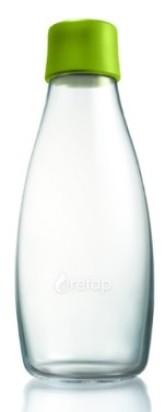 ReTap Skleněná lahev na vodu 0,5 l - světle zelená