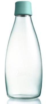 ReTap Skleněná lahev na vodu 0,8 l - akvamarínová