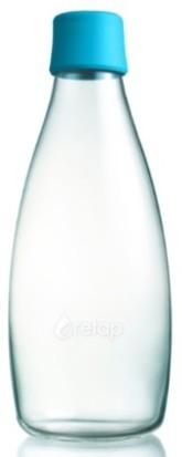 ReTap Skleněná lahev na vodu 0,8 l - azurová