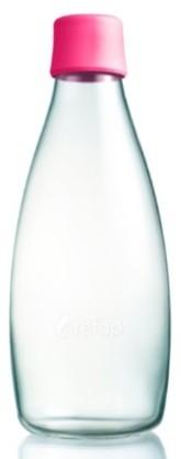 ReTap Skleněná lahev na vodu 0,8 l - růžová