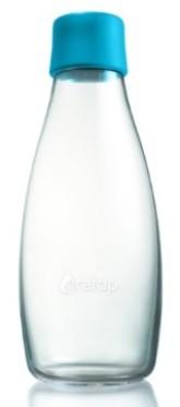 ReTap Skleněná lahev na vodu 0,5 l - azurová
