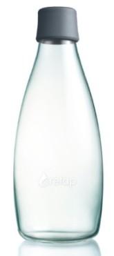 ReTap Skleněná lahev na vodu 0,8 l - šedá