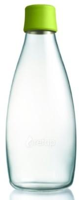 ReTap Skleněná lahev na vodu 0,8 l - světle zelená