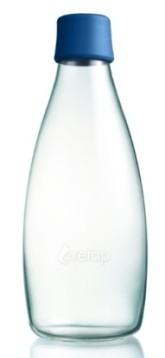 ReTap Skleněná lahev na vodu 0,8 l - tmavě modrá