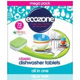 Ecozone Tablety do myčky Classic - vše v jednom