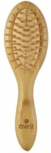 Avril Organic Dřevěný bambusový hřeben na vlasy s kolíčky 20 cm