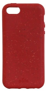 Pela Case Kompostovatelný obal na iPhone SE / 5 / 5s - RED