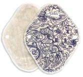 Gaia Pads – látkové slipové vložky z biobavlněného sametu – fialová (4 ks)
