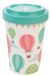 Woodway Bambusový kelímek na kávu Baloons M
