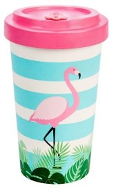 Woodway Bambusový kelímek Flamingo Pink L