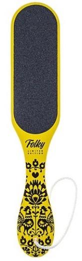 MiaCalnea Stylová škrabka na paty - Folky yellow