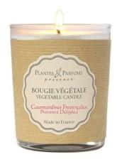 PLANTES & PARFUMS DE PROVENCE Řemeslně vyráběná sójová svíčka s vůní Gurmánská Provence 75 g