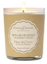 PLANTES & PARFUMS DE PROVENCE Řemeslně vyráběná sójová svíčka s vůní Květy bavlny 75 g