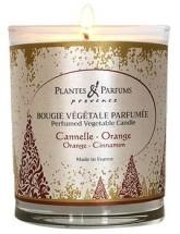 PLANTES & PARFUMS DE PROVENCE Řemeslně vyráběná sójová svíčka s vůní Pomeranč a skořice 75 g