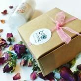Biorythme Balíček Malý dárek - deodorant Růžová zahrada + balzám na rty Malina 2 kusy