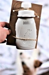 Domky Plnitelná silikonová kapsička na jídlo šedá 180 ml