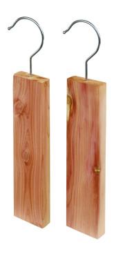 Redecker Závěsná ramínka proti šatním molům z červeného cedrového dřeva 19 x 5 x 1,7 cm 2 ks