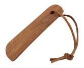 Redekcer Dřevěná lžíce na boty s koženou šňůrkou z dubového dřeva 11,5 cm