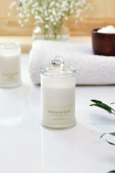 M-Factory Aromatherapy 100% přírodní svíčka – Levandule, Sůl z Mrtvého moře