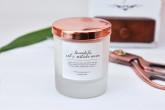 M-Factory Svíčka ze 100% přírodního vosku Pure - Levandule a sůl z Mrtvého moře 100% přírodní svíčka