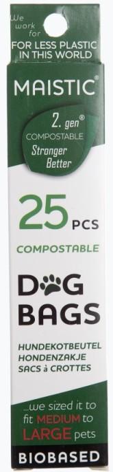 MAISTIC Kompostovatelné sáčky na psí exkrementy 2. generace /velké/