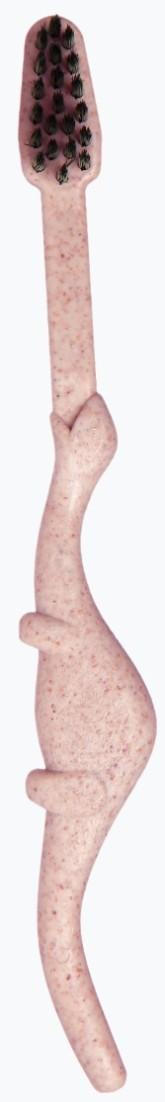 MAISTIC Dětský zubní kartáček z bioplastu s aktivním uhlím / soft / růžový