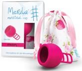 Merula Cup menstruační kalíšek pro ženy s nízkým čípkem - STRAWBERRY