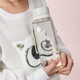 EQUA Dětská plastová lahev na pití Cotton candy - 0,6 l