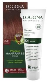 Logona BIO Rostlinná barva na vlasy krémová 220 Vínová červená
