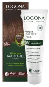 Logona BIO Rostlinná barva na vlasy krémová odstín 230 Kaštanově hnědá