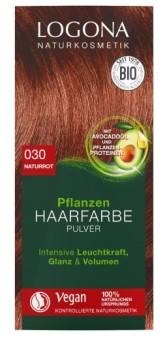 Logona BIO Rostlinná barva na vlasy prášková odstín 030 Přírodní červená 2 x 50 g