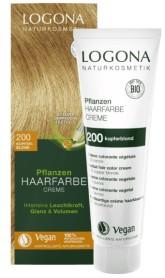 Logona BIO Rostlinná barva na vlasy krémová odstín 200 Měděná blond