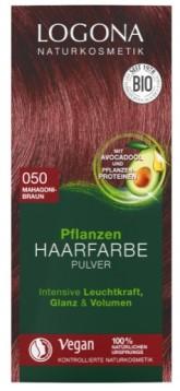Logona BIO Rostlinná barva na vlasy prášková odstín 050 Mahagonově hnědá 2 x 50 g