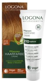 Logona BIO Rostlinná barva na vlasy krémová odstín 210 Měděná červená