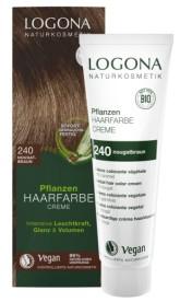 Logona BIO Rostlinná barva na vlasy krémová odstín 240 Nugátově hnědá