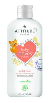 Attitude Dětská pěna do koupele Baby leaves s vůní hruškové šťávy