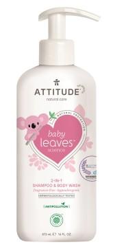 Attitude Dětské tělové mýdlo a šampon (2 v 1) Baby leaves bez vůně