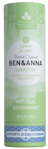 Ben & Anna Tuhý deodorant Sensitive - Lemon & Lime